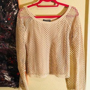 🦄NEW ITEM🦄EUC Vintage nude fishnet long sleeve